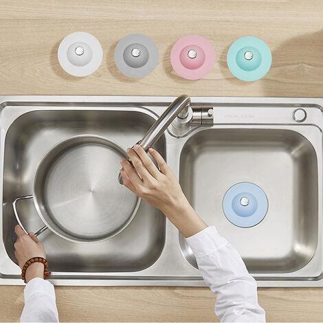 1PCS piso de silicona desague del fregadero colador de desague por el tapon de cocina del tapon tapon de banera de pelo Desodorante Plug