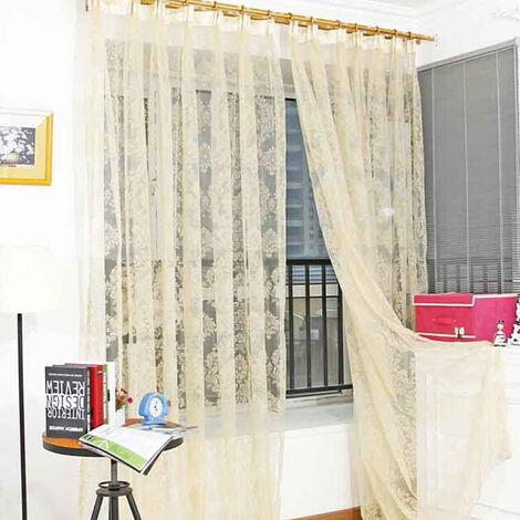 1PCS rideau fenêtre occultant couleur unie rideau de fenêtre pour salon chambre (poche de tige 240x150 cm)