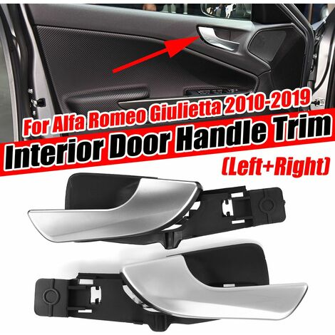 1pcs Right Side Front Interior Door Handle For Alfa Romeo Giulietta 2010-2019 Black & Chrome