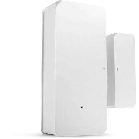 1PCS SONOFF DW2-RF-433MHZ Sensor Puerta Ventana Alarma Sensor RF 433Mhz Automatizacion inalambrica Alarma antirrobo Compatible con Puente RF para sistema de alarma de seguridad para el hogar inteligente, blanco calido, 1