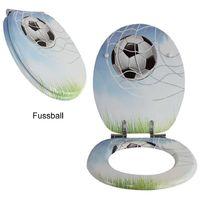 1PLUS Premium MDF Toilettensitz WC-Sitz mit Absenkautomatik und verzinkten Scharnieren in verschiedenen Designs