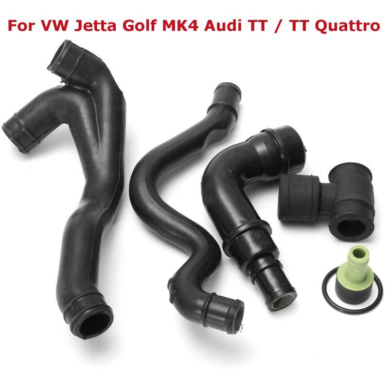 Augienb - 1Set 6pcs Car Auto Crankcase Engine Breather Hose Pipe For VW Jetta Golf MK4 Audi TT / TT Quattro