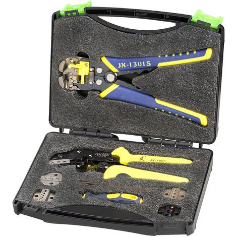 """main image of """"1Set Professional Multitool Wire Crimpers Engineering Ratchet Crimping Pliers Wire Stripper Crimping Tool Cord End Terminal Kit Hasaki"""""""