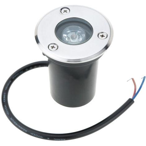 1W 12V DC IP67 Lampara de LED Underground Luz impermeable de alta potencia de vidrio templado al aire libre Jardin cuadrado horizontal, blanco calido