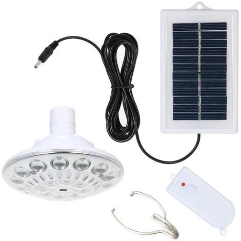1W 22 LED Bombilla ligera accionada solar del 100LM 3 modos de iluminacion al aire libre de interior de la lampara portatil con mando a distancia
