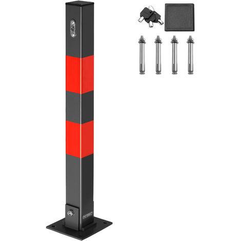 1x 2x 3x or 4x Heavy Duty Parking Space Barrier Car Bollard Folding 3 Keys Robust Steel Security Reserve Post