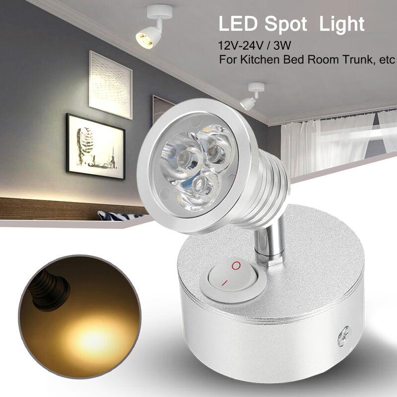 1x 3W LED Spot Light 12V Lámpara de pared para ba?o / cocina / dormitorio / habitación Blanco cálido 3000k