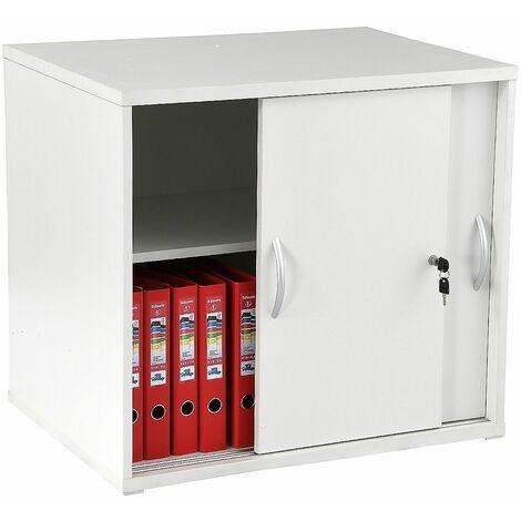 1x Armoire de bureau XXL | 3 étagères | LxPxH 960 x 530 x 1592 mm | Blanc | Karbon | Certeo - Blanc
