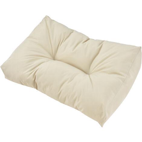 1x Coussin de dossier pour canapé d'euro palette [crme] Coussin de palettes In/Outdoor rembourrage meuble
