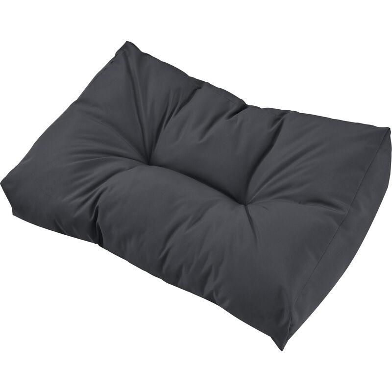 1x Coussin de dossier pour canapé d'euro palette [gris foncé] Coussin de palettes In/Outdoor rembourrage meuble