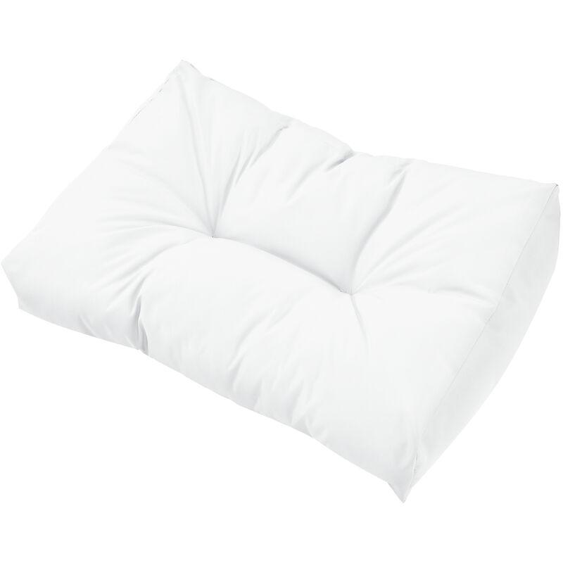 1x Coussin de dossier pour canapé d'euro palette [blanc] Coussin de palettes In/Outdoor rembourrage meuble