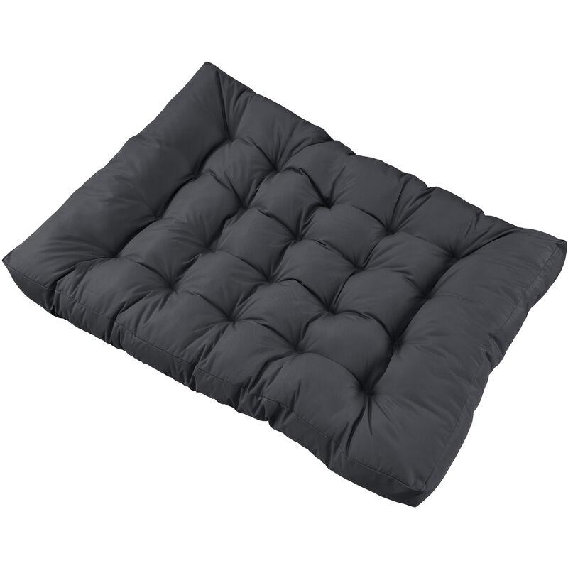 1x Coussin de siège pour canapé d'euro palette [gris foncé] coussins de palettes In/Outdoor rembourrage meuble