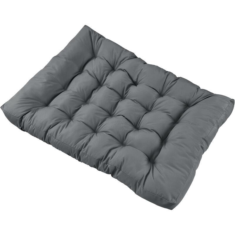 1x Coussin de siège pour canapé d'euro palette [gris clair] coussins de palettes In/Outdoor rembourrage meuble