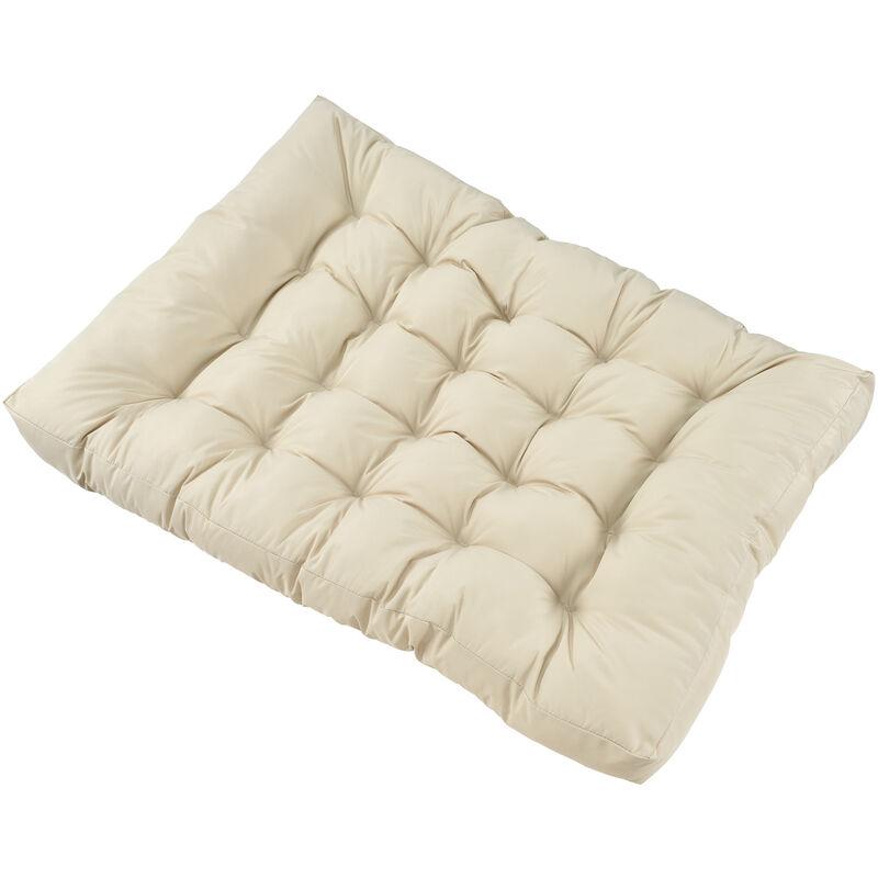 1x Coussin de siège pour canapé d'euro palette [crème] coussins de palettes In/Outdoor rembourrage meuble