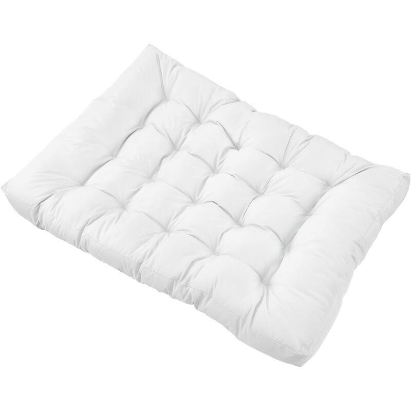 1x Coussin de siège pour canapé d'euro palette [blanc] coussins de palettes In/Outdoor rembourrage meuble