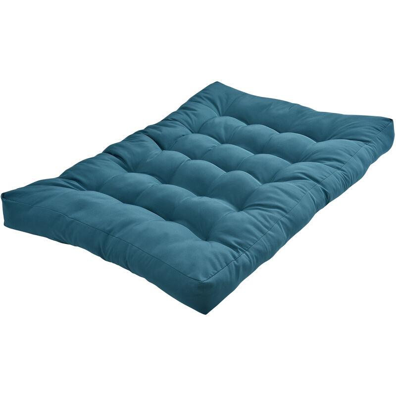 1x Coussin de siège pour canapé d'euro palette [turquoise] coussins de palettes In/Outdoor rembourrage meuble