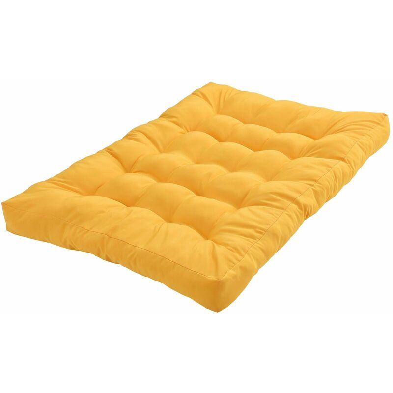 Helloshop26 - 1x Coussin de siège pour canapé d'euro palette de palettes rembourrage meuble jaune - Jaune