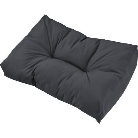 1x cuscino schienale per divano paletta euro grigio scuro cuscino paletta in outdoor - Cuscino per divano ...