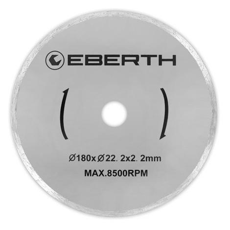 1x Discos de corte de diamante Ø 180 mm (aplicable universalmente, Azulejos, Mármol, Porcelana, Cerámica)