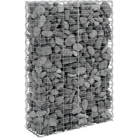 1x gabions (150 x 100 x 30 cm) gabions en pierre , mur en pierre , paroi en pierre , espaliers