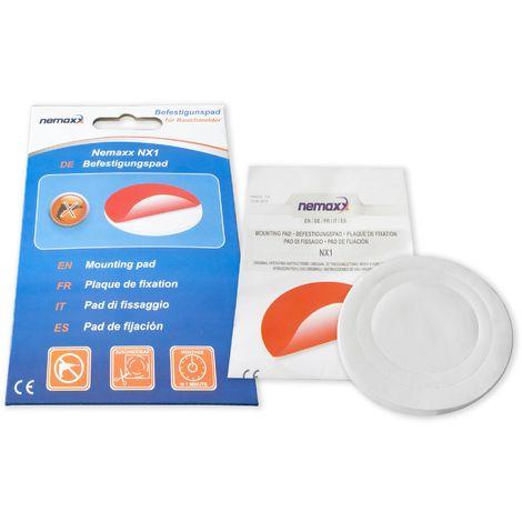 1x Nemaxx NX1 Adhesivo circular de doble cara - Adhesivo de fuerte fijación para un montaje rápido y sencillo de Detectores de humo