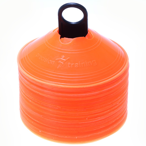 1x Orange football training cone