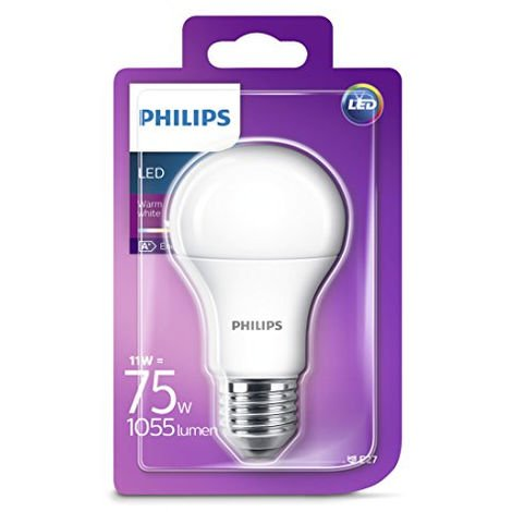 1x Philips LED Frosted E27 40W Warm White Edison Screw Light Bulb Lamp 470 Lm