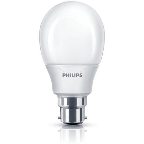 1x Philips Softone Warm White Fluorescent 8W (38W Equiv) B22 Bayonet Light Bulb