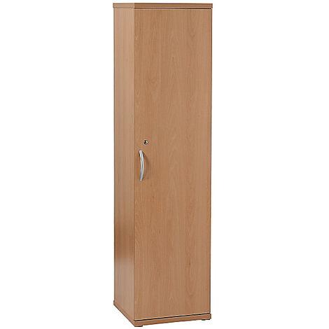 1x placard fin de bureau en bois | 4 tablettes | Hauteur 1980 mm | Hêtre | Karbon | Certeo - Hêtre