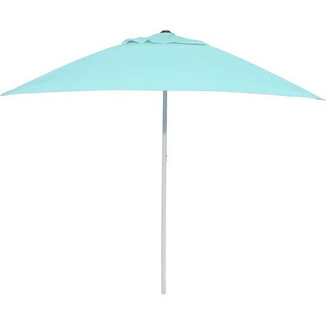 2 * 2m Square Umbrella Outdoor Shade Parasol Beach Light Blue