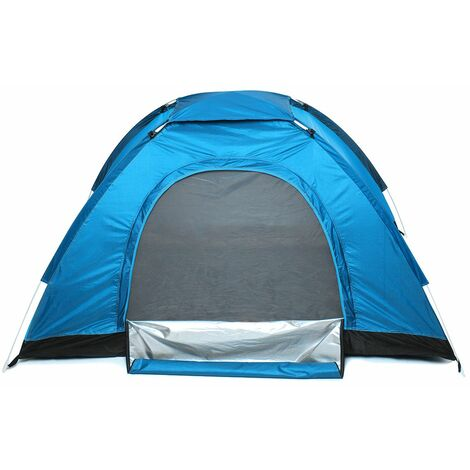 2-3 Person Waterproof Camping Tent Quick Auto Open Outdoor Portable Shelter (Blue)
