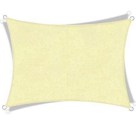 2 * 3m Light Yellow Rectangular Summer Sunscreen Sunshade Carport Outdoor Garden Effectively Protect the Sun