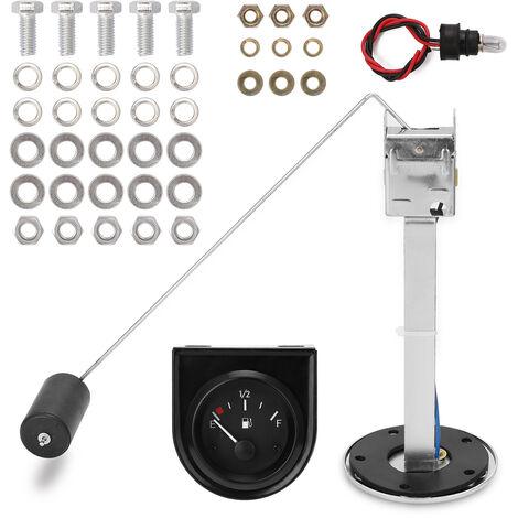 2 ''52mm Jauge de pression d'huile Temperature de l'eau Temperature de l'huile Jauge de voiture Presse a huile Carburant Volts Jauge Voiture Jauge de niveau de flotteur de carburant Indicateur de capteur, modele: Blanc 10