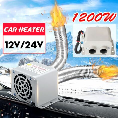 2 Air Outlet 1200W 12V Car Heater Fan Car Windshield Defroster Warm Air Dryer Winter Auto Accessories