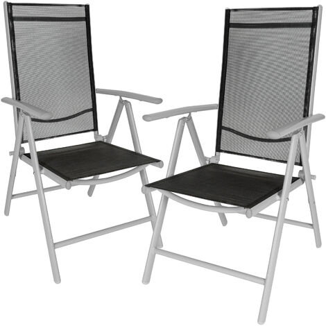 2 aluminium garden chairs - reclining garden chairs, garden recliners, outdoor chairs