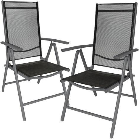 """main image of """"2 aluminium garden chairs - reclining garden chairs, garden recliners, outdoor chairs"""""""