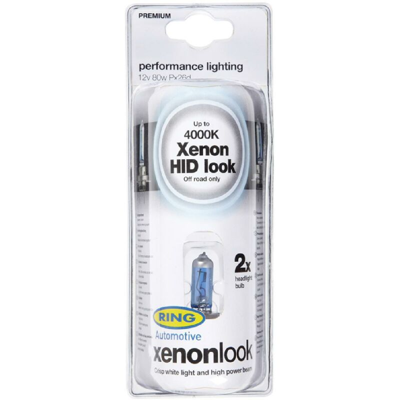 2 ampoules H7 XENON LOOK 12v 80w