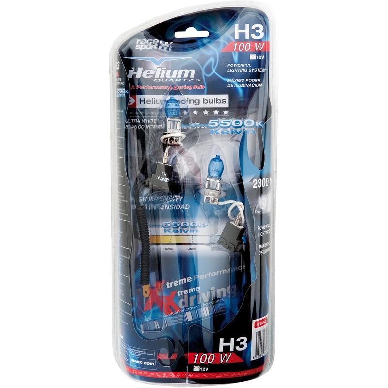 2 Ampoules Helium H3 12V 100W Non Homologue Route