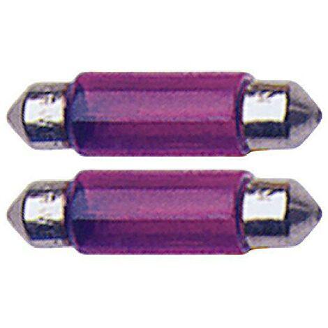 2 Ampoules Navettes - 12V5W - T11 - Violet - C5W