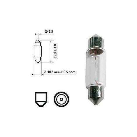 2 Ampoules navettes 5W / 12v incandescentes pour caravane ou camping car