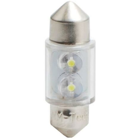 2 ampoules navettes a LED Blanches 31 mm 12V 0.25W