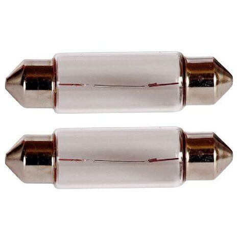 2 Ampoules Navettes T11x41 - 12V 10W 2800K - SV8.5D - C5W