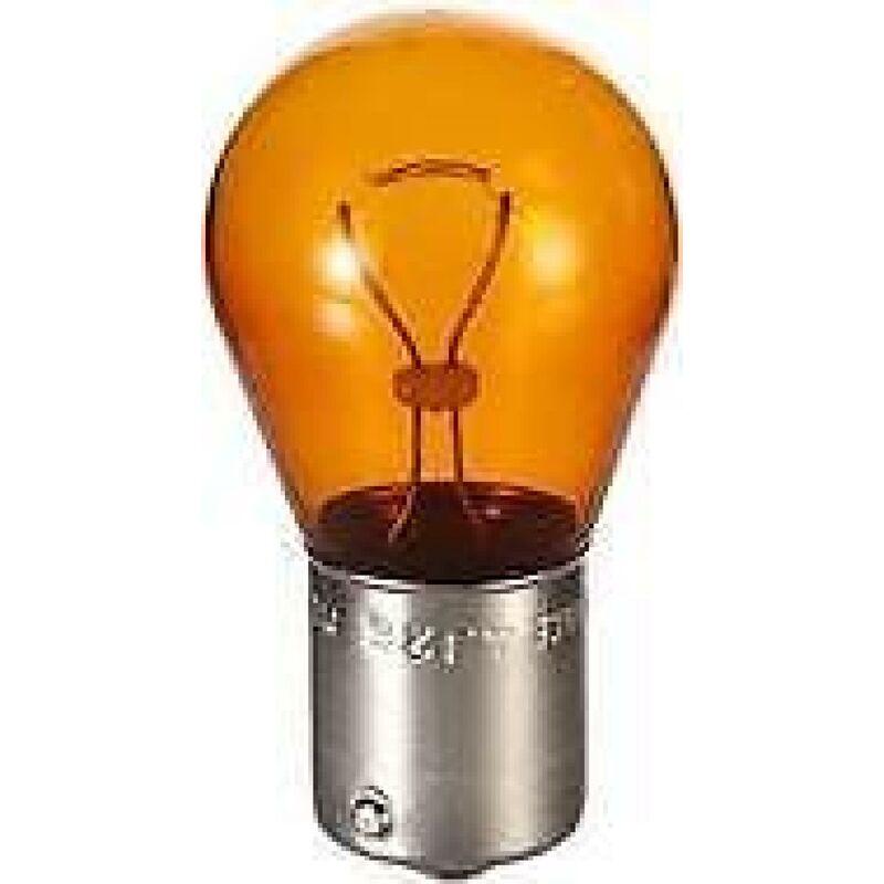 10 ampoules PY21W 12V monofil ambre