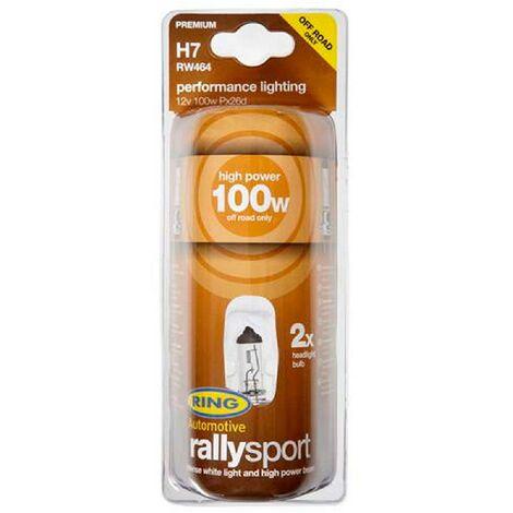 2 ampoules RallySport H7 12V 100W RW464 - Px26D Ring