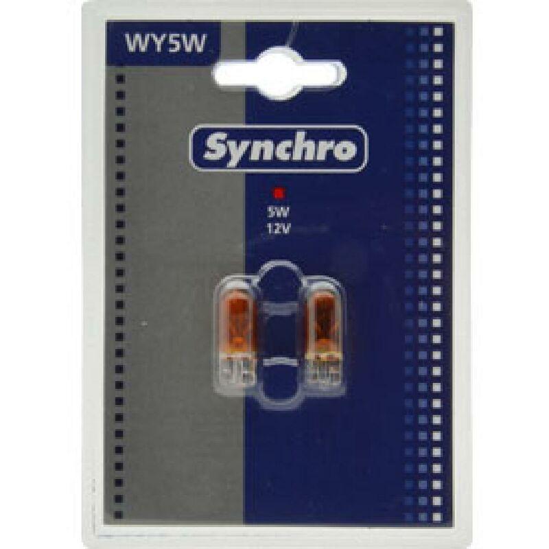 10 ampoules temoins sans culot ambre W5YW 12V 5W T10