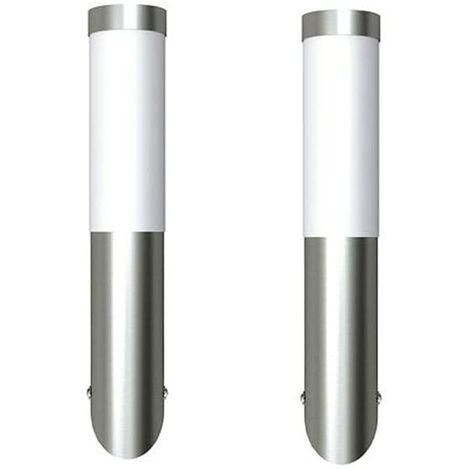 2 Apliques de exterior, lámparas de pared, 6 x 36 cm