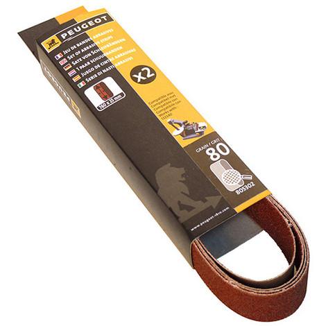 2 bandes abrasives 760 x 25 mm Grain 80 pour ENERGYSAND 25T - 805302 - Peugeot - -