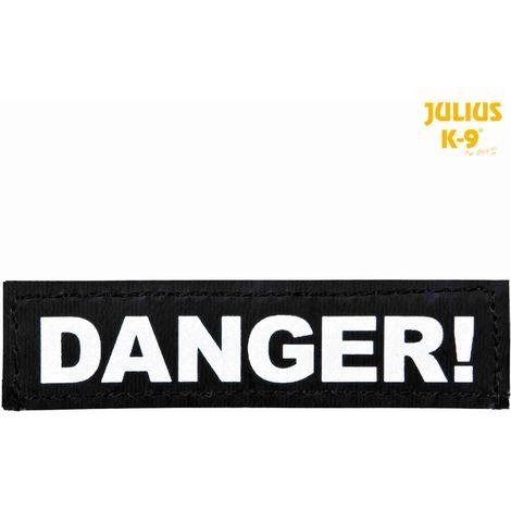 2 Bandes auto-agrippantes DANGER! Taille XS - Julius-K9