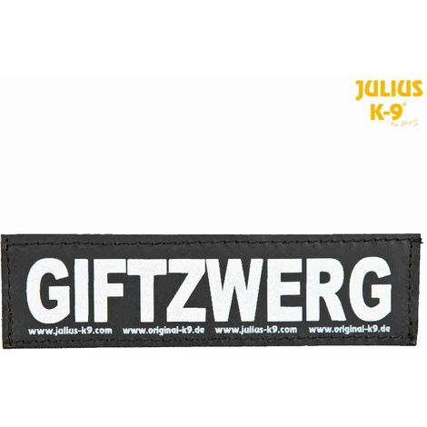 2 Bandes auto-agrippantes GIFTZWERG Taille S - Julius-K9