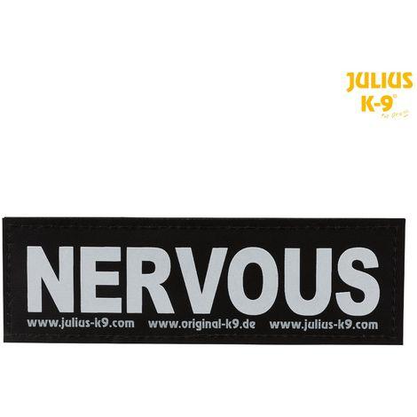 2 Bandes auto-agrippantes NERVOUS Taille S - Julius-K9